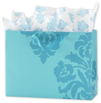 Exploded Damask Euro-Shoppers, 16 x 6 x 12