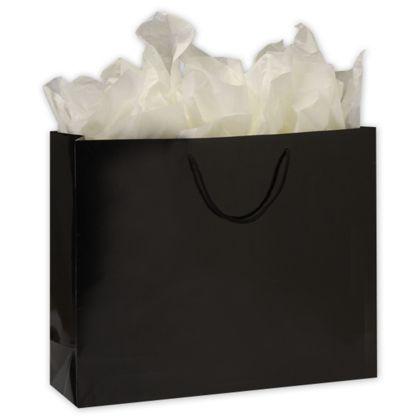 Premium Black Gloss Euro-Shoppers, 20 x 6 x 16