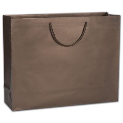"Dark Chocolate Matte Euro-Totes, 20 x 6 x 16"""