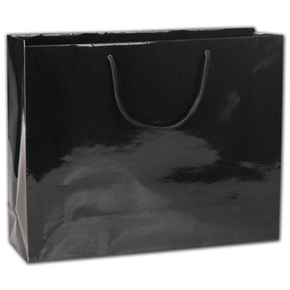 "Black Gloss Euro-Totes, 20 x 6 x 16"""
