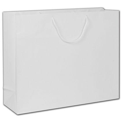 """White Gloss Euro-Totes, 20 x 6 x 16"""""""