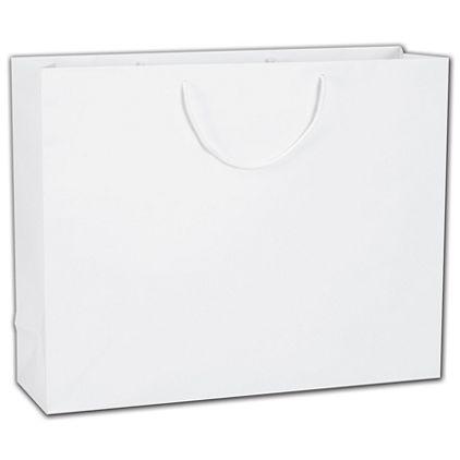 """White Matte Euro-Totes, 20 x 6 x 16"""""""