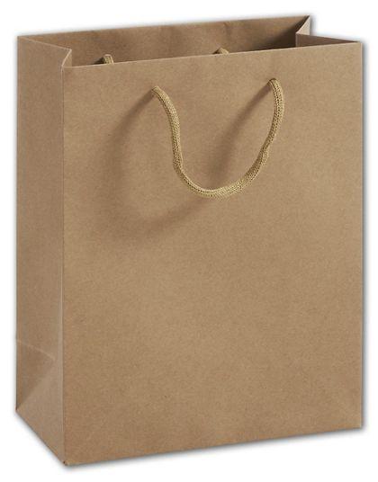 "100% Recyclable Kraft Euro-Shoppers, 8 x 4 x 10"""