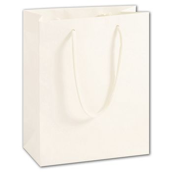 100% Recyclable White Kraft Euro-Shoppers, 8 x 4 x 10