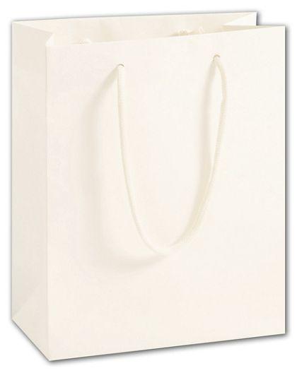 "100% Recyclable White Kraft Euro-Shoppers, 8 x 4 x 10"""