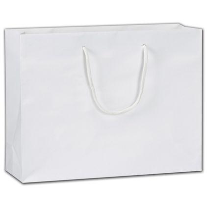 """Eco-Friendly White Euro-Totes, 13 x 4 1/2 x 10"""""""