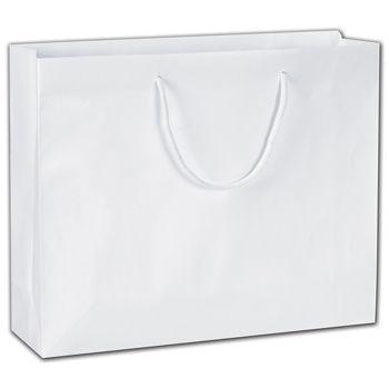 """Eco-Friendly White Euro-Totes, 16 x 4 3/4 x 13"""""""