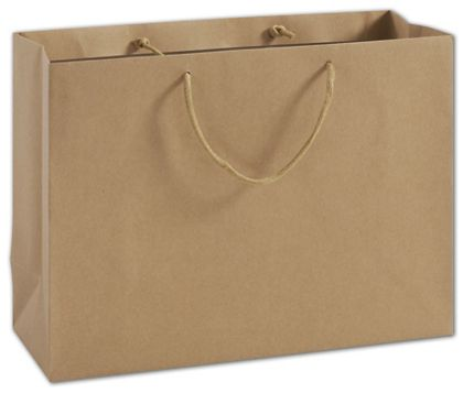 "100% Recyclable Kraft Euro-Shoppers, 16 x 6 x 12"""