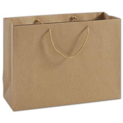 100% Recyclable Kraft Euro-Shoppers, 16 x 6 x 12""