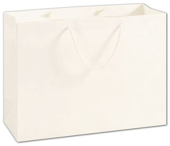 100% Recyclable White Kraft Euro-Shoppers, 16 x 6 x 12