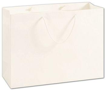 100% Recyclable White Kraft Euro-Shoppers, 16 x 6 x 12