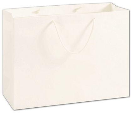 "100% Recyclable White Kraft Euro-Shoppers, 16 x 6 x 12"""