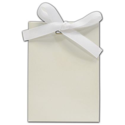 """White Gloss-Laminated Gift-Euros, 4 1/2 x 2 1/2 x 6 1/4"""""""