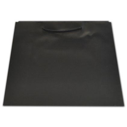 Black Matte Inverted Trapezoid Euro-Totes, 12 1/2x5 1/4x11