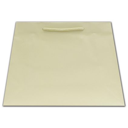 Ivory Matte Inverted Trapezoid Euro-Totes, 12 1/2x5 1/4x11