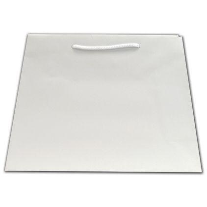 White Matte Inverted Trapezoid Euro-Totes, 12 1/2x5 1/4x11