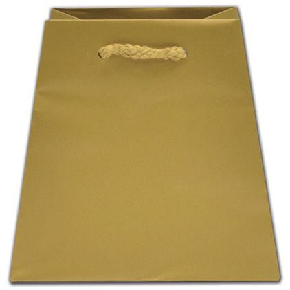 """Gold Dust Matte Inverted Trapezoid Euro-Totes, 4 1/2x4x6"""""""