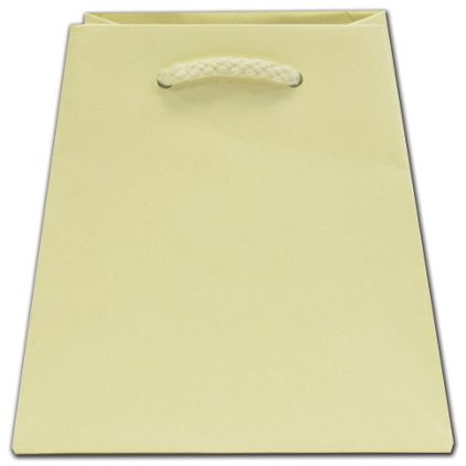 """Ivory Matte Inverted Trapezoid Euro-Totes, 4 1/2 x 4 x 6"""""""