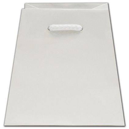 """White Matte Inverted Trapezoid Euro-Totes, 4 1/2 x 4 x 6"""""""