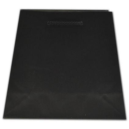 "Black Matte Inverted Trapezoid Euro-Totes, 7 1/2x4x8 3/4"""