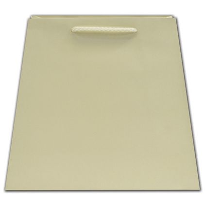 """Ivory Matte Inverted Trapezoid Euro-Totes, 7 1/2x4x8 3/4"""""""