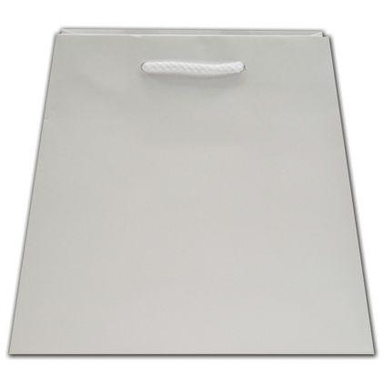 """White Matte Inverted Trapezoid Euro-Totes, 7 1/2x4x8 3/4"""""""