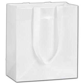 """White Pearl Luster Euro-Totes, 8 x 4 x 9"""""""