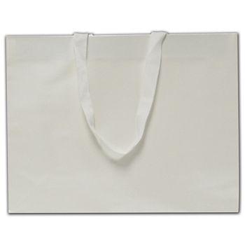 """White Pearl Luster Euro-Totes, 13 x 4 1/2 x 10"""""""