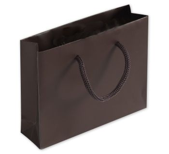 Chocolate Matte Laminated Mini Euro-Totes