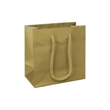 Premium Gold Matte Euro-Shoppers, 6 1/2 x 3 1/2 x 6 1/2