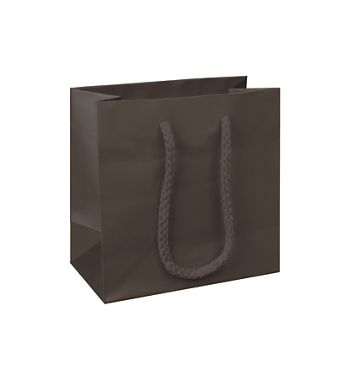Premium Chocolate Matte Euro-Shoppers, 6 1/2x3 1/2x6 1/2