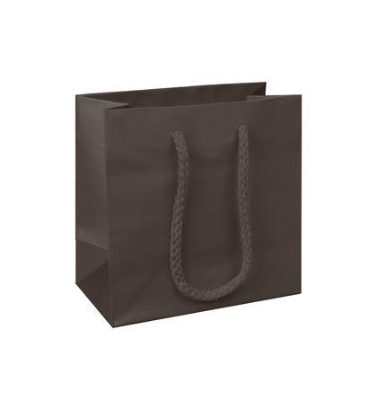 "Premium Chocolate Matte Euro-Shoppers, 6 1/2x3 1/2x6 1/2"""