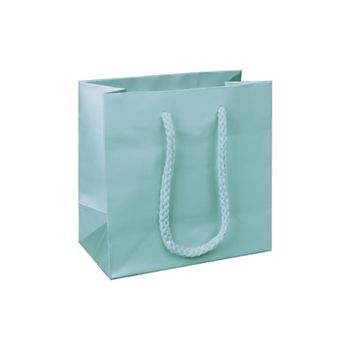 Premium Aqua Matte Euro-Shoppers, 6 1/2 x 3 1/2 x 6 1/2