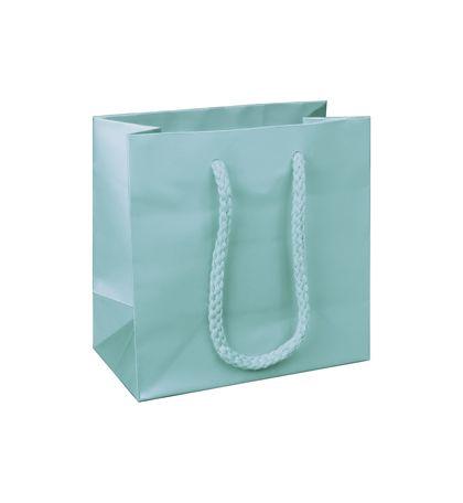 "Premium Aqua Matte Euro-Shoppers, 6 1/2 x 3 1/2 x 6 1/2"""