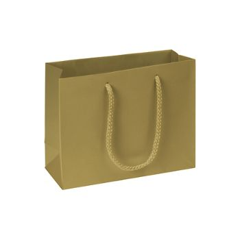 Premium Gold Matte Euro-Shoppers, 9 x 3 1/2 x 7