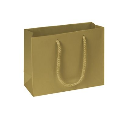 "Premium Gold Matte Euro-Shoppers, 9 x 3 1/2 x 7"""