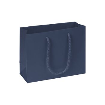 Premium Navy Matte Euro-Shoppers, 9 x 3 1/2 x 7