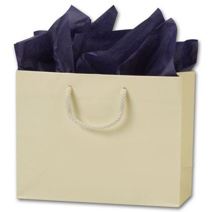 Premium Ivory Matte Euro-Shoppers, 9 x 3 1/2 x 7