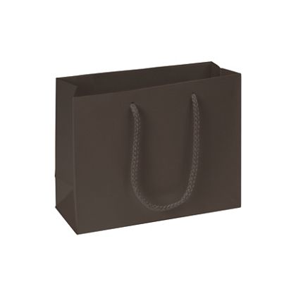 Premium Chocolate Matte Euro-Shoppers, 9 x 3 1/2 x 7""