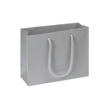 Premium Silver Matte Euro-Shoppers, 9 x 3 1/2 x 7