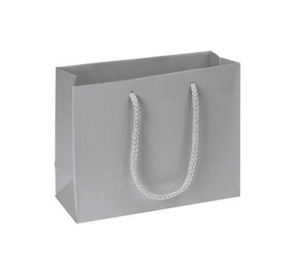 """Premium Silver Matte Euro-Shoppers, 9 x 3 1/2 x 7"""""""