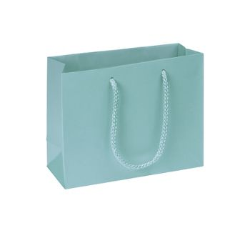 Premium Aqua Matte Euro-Shoppers, 9 x 3 1/2 x 7
