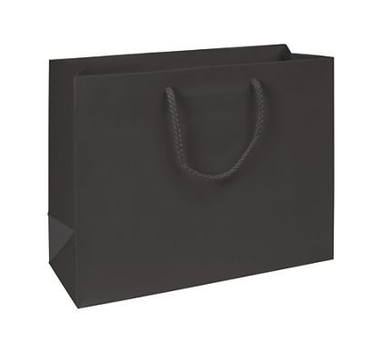 "Premium Black Matte Euro-Shoppers, 13 x 5 x 10"""