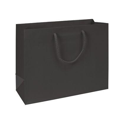 Premium Black Matte Euro-Shoppers, 13 x 5 x 10