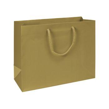 Premium Gold Matte Euro-Shoppers, 13 x 5 x 10