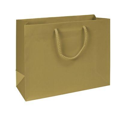 "Premium Gold Matte Euro-Shoppers, 13 x 5 x 10"""