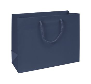 Premium Navy Matte Euro-Shoppers, 13 x 5 x 10