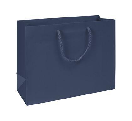 "Premium Navy Matte Euro-Shoppers, 13 x 5 x 10"""