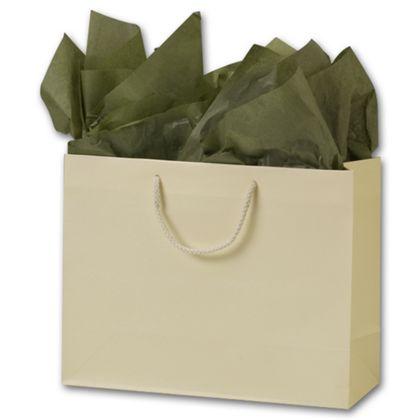 Premium Ivory Matte Euro-Shoppers, 13 x 5 x 10