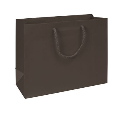 Premium Chocolate Matte Euro-Shoppers, 13 x 5 x 10""